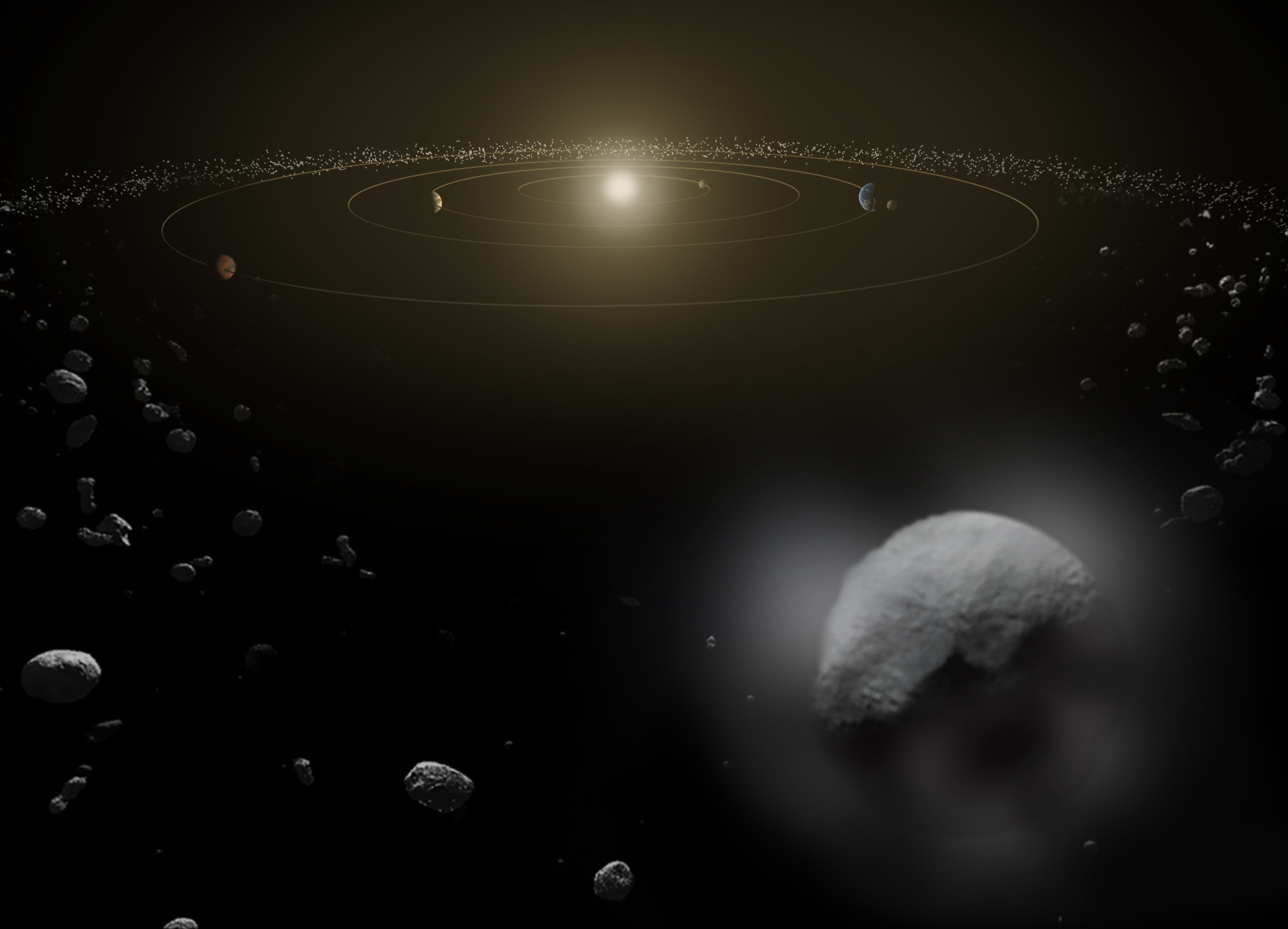 what is the asteroid belt universe today - HD 1894×1367